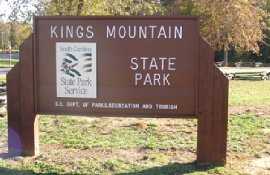 LOOK FOR THIS! King's Mountain State Park. Click here for more information. This is an External Link.